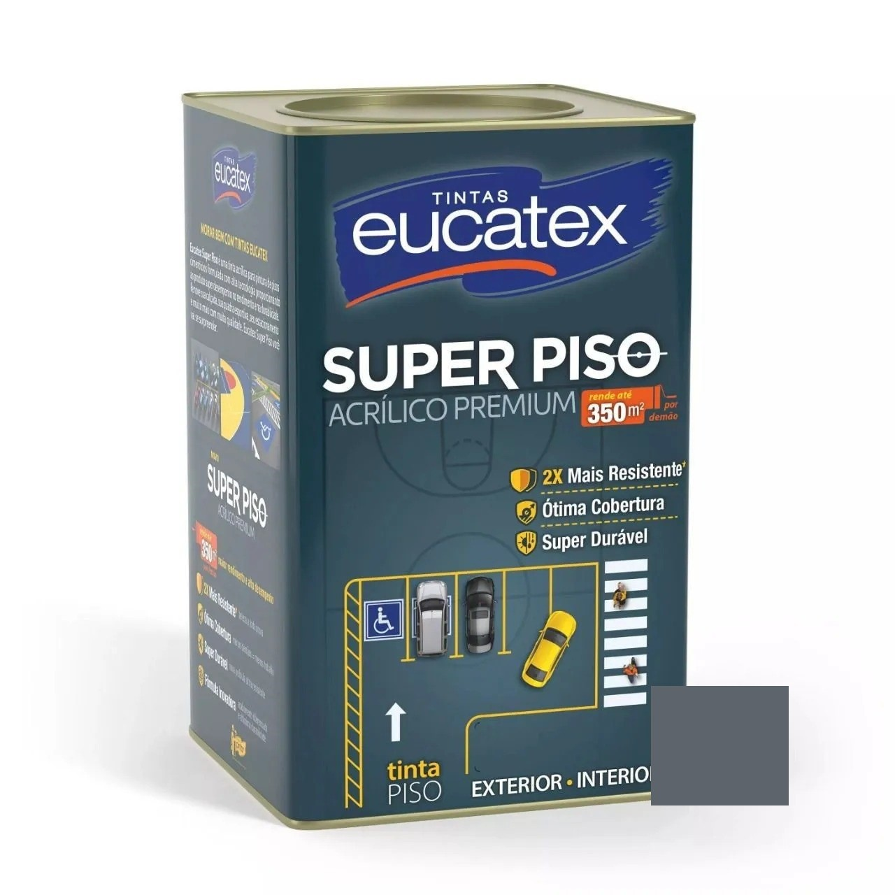 Tinta Super Piso Acrílico Premium Cinza 18 Litros Eucatex