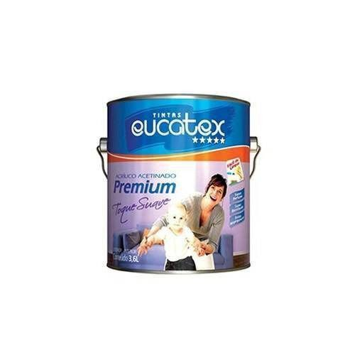 Tinta Toque Suave Acrilico Acetinado Branco Galão 3,6 Litros Eucatex