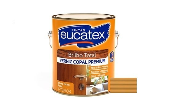 Verniz Copal Premium Brilhante Natural 900ml Eucatex