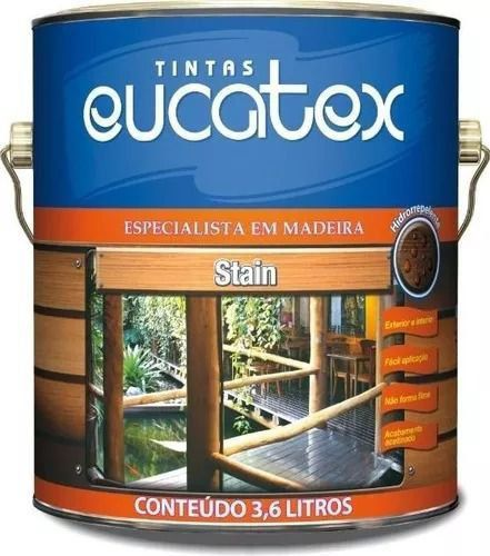 Verniz Stain Mogno Galão 3,6 Litros Eucatex