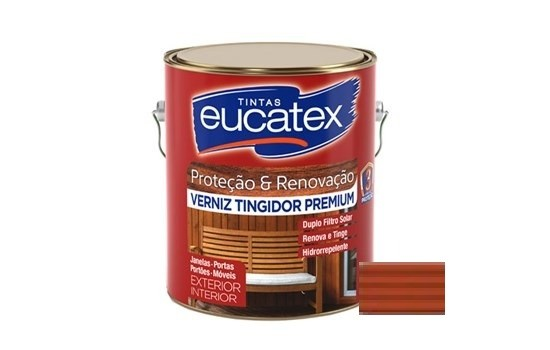 Verniz Tingidor Premium Mogno 225ml Eucatex