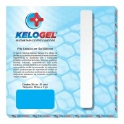 Fita Adesiva Silicone Tratamento Queloide e Hipertrofia de Cicatriz 20x3cm Kelogel