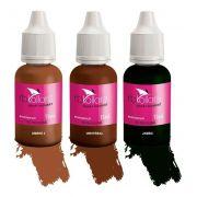 Kit Pigmento Rb Kollors 15ml Jambo + Universal + Ombre 2