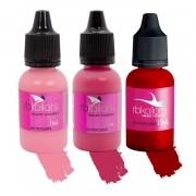 Kit Pigmento Rb Kollors Para Lábios Penélope + Darling + Red Life