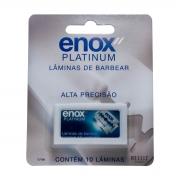Lâmina de Barbear Enox Platinum 10un