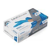 Luva Unigloves Nitrilo Sem Pó Premium Quality Azul