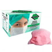 Máscara Protdesc Tripla Rosa com Elástico 50un