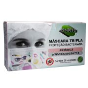 Máscara Tripla Fashion Protdesc Pct 20un