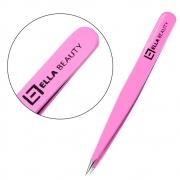 Pinça Sobrancelha Ella Beauty Ponta Fina Pink