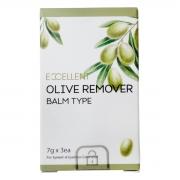 Removedor Gel Excellent Olive para Extensão de Cílios 7g Kit 3un