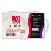 Tips Nailite Futura Clear com 100un
