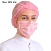 Touca Descartável Protdesc Rosa Bebe 100un