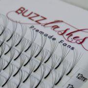 Tufos Buzz Lashes Premade 5D Fans Espessura 0.07mm