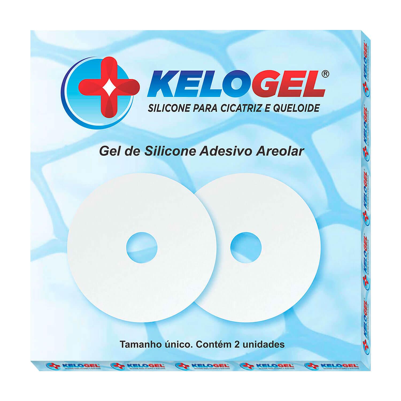 Adesivo Areolar Kelogel Tratamento de Queloide e Hpertrofia Cicatriz de Mama 2un