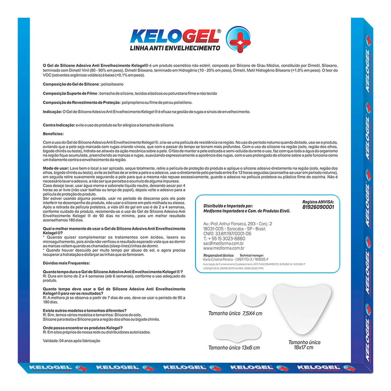 Adesivo de Silicone Antissinais 1 Colo + 1 Testa + 4un Olhos ou Bigode Kelogel