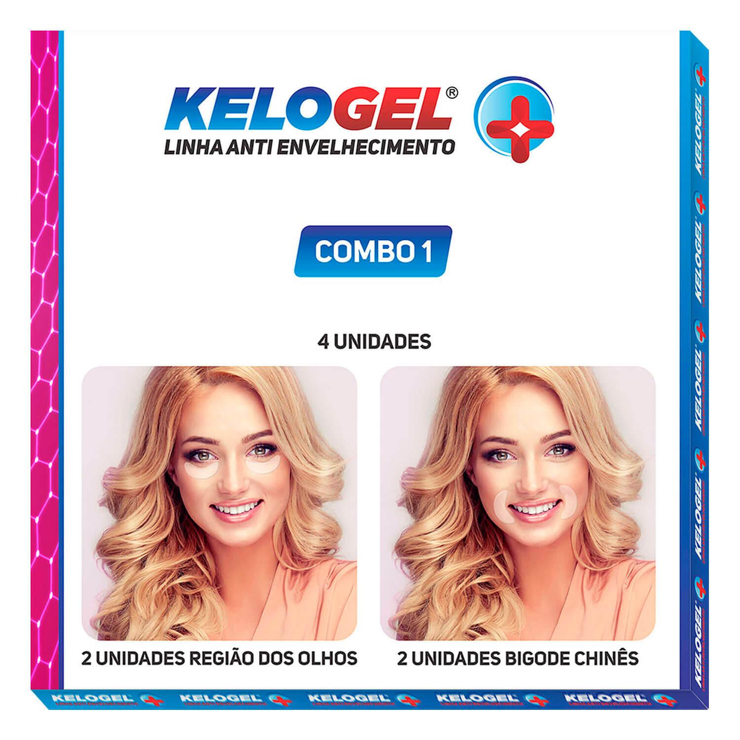 Adesivo de Silicone Antissinais 4un Olhos ou Bigode Kelogel
