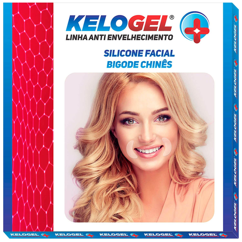 Adesivo de Silicone Antissinais do Olhos ou Bigode Kelogel 2un