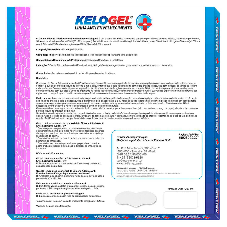 Adesivo de Silicone Antissinais do Testa Kelogel 1un