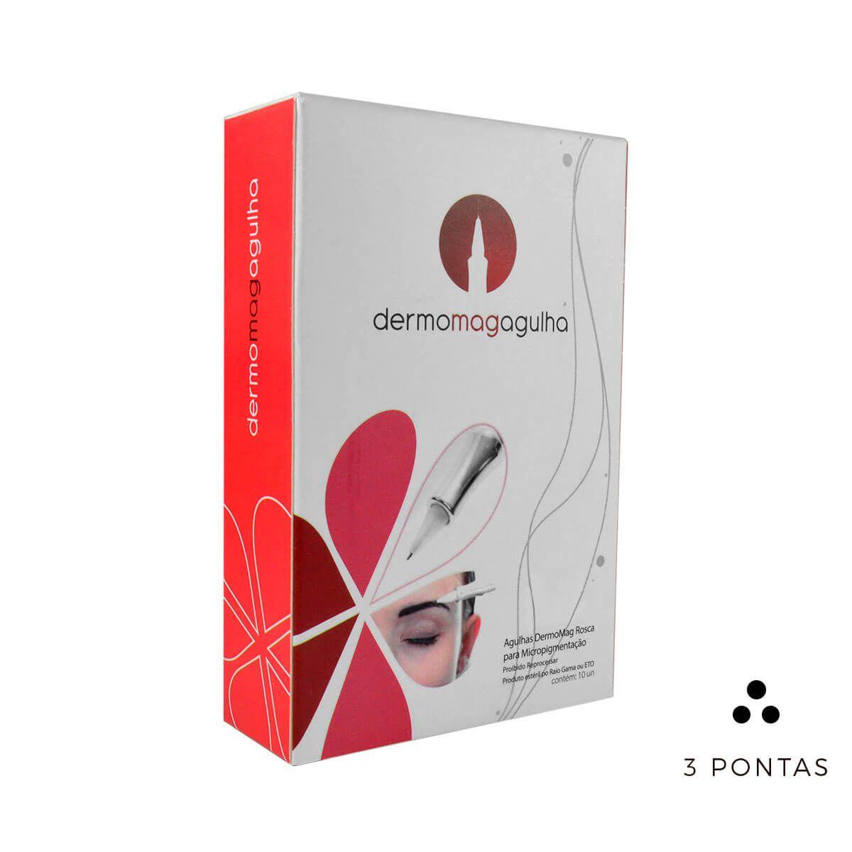 Agulha Dermomag 3 Pontas Circular Fine Pen/Júnior Cx 10un
