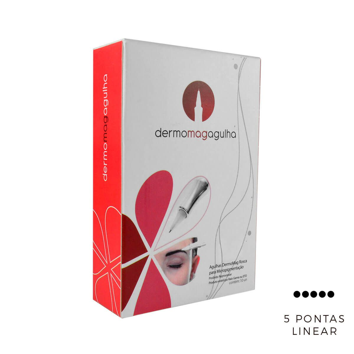 Agulha Dermomag 5 Pontas Linear Pen/Junior