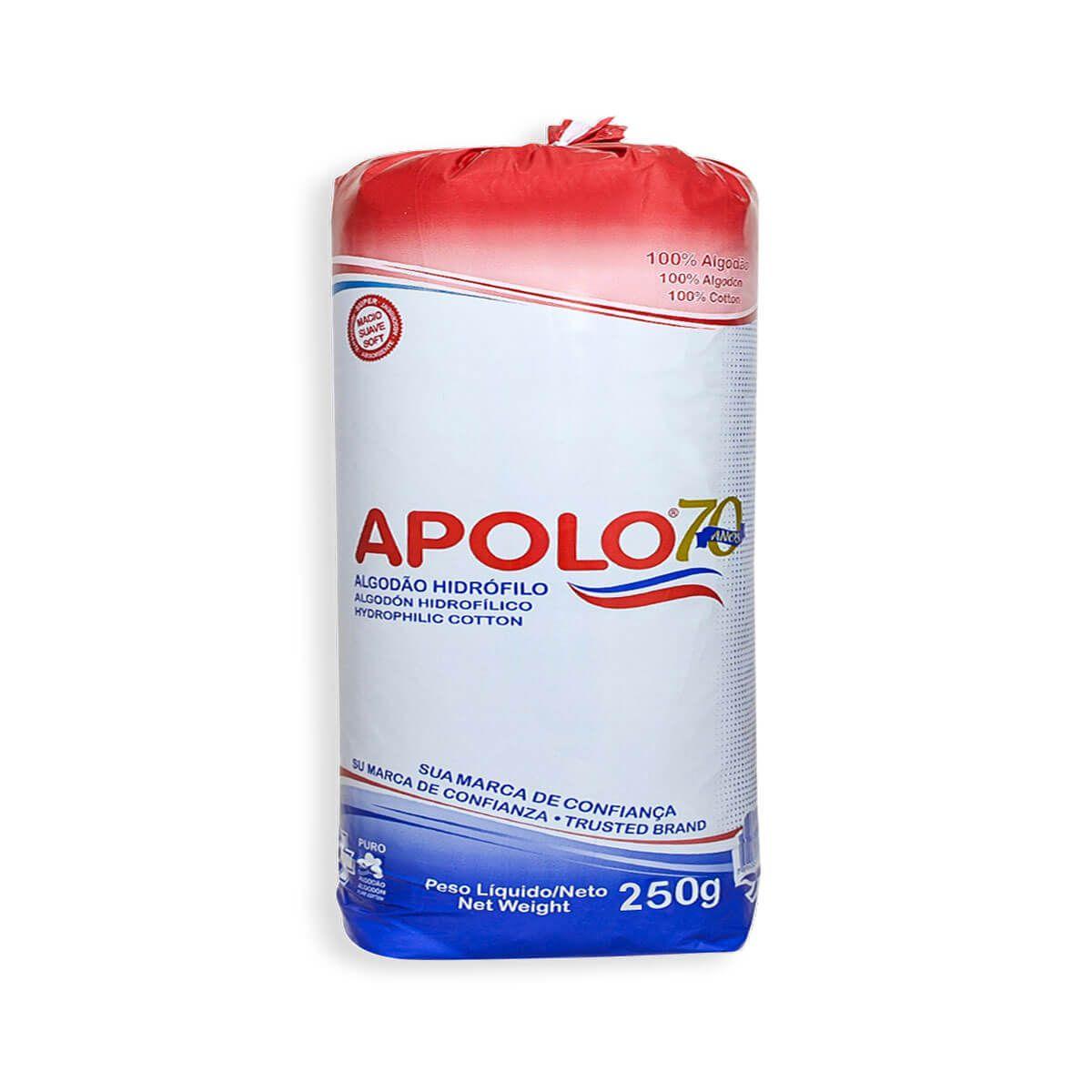 Algodão Hidrófilo Apolo Rolo 250g