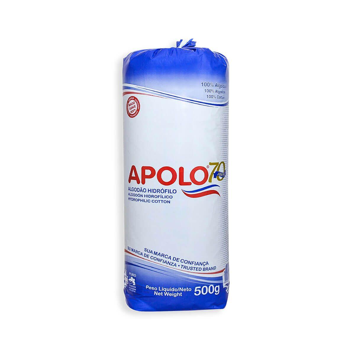 Algodão Hidrófilo Apolo Rolo 500g