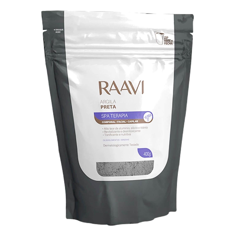 Argila Raavi Corporal e Facial Preta 400g