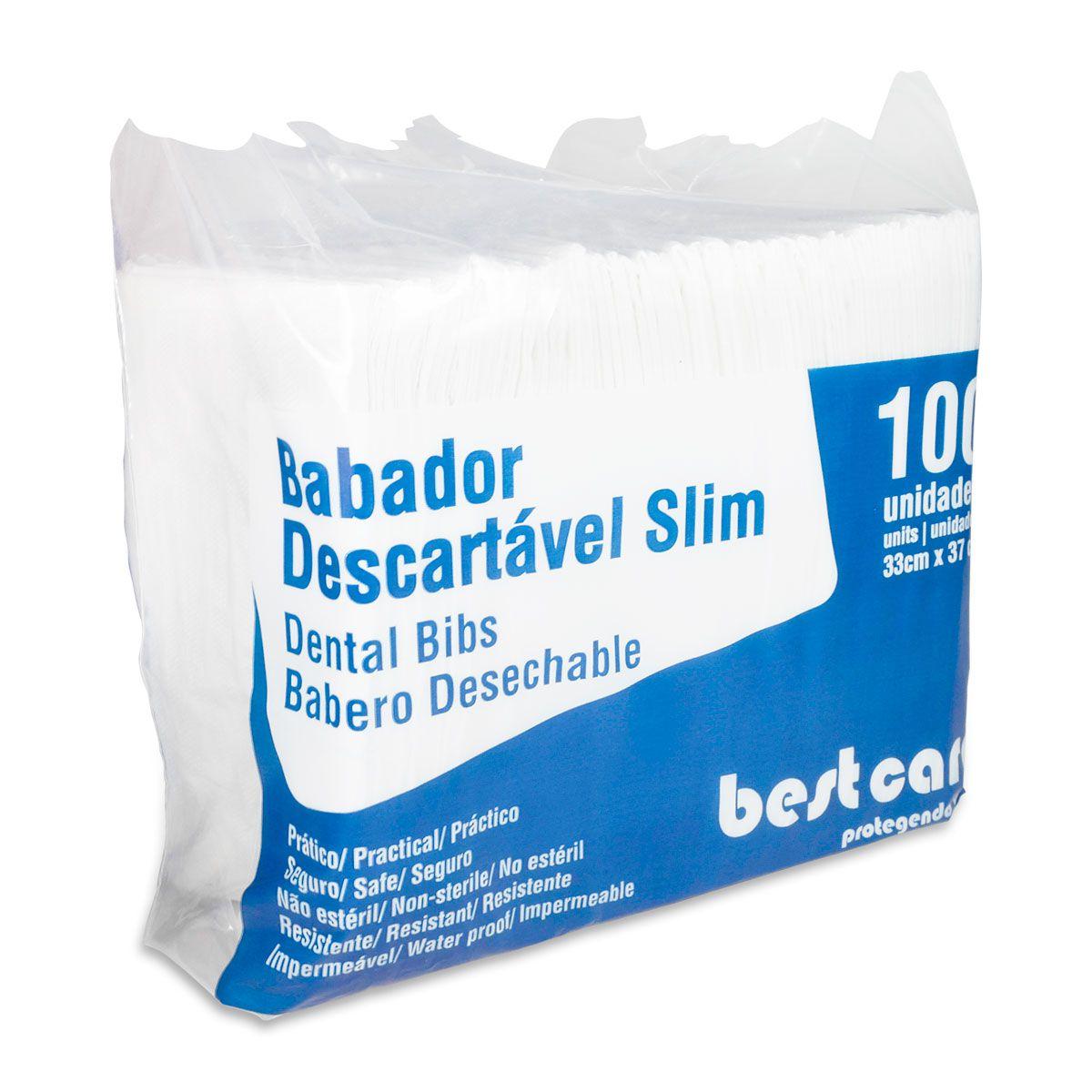 Babador Descartável Bestcare Branco 100un