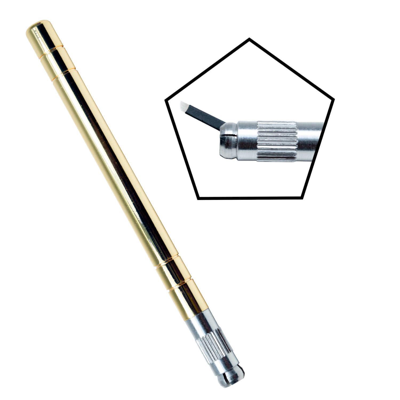 Caneta Tebori Inox para Microblading