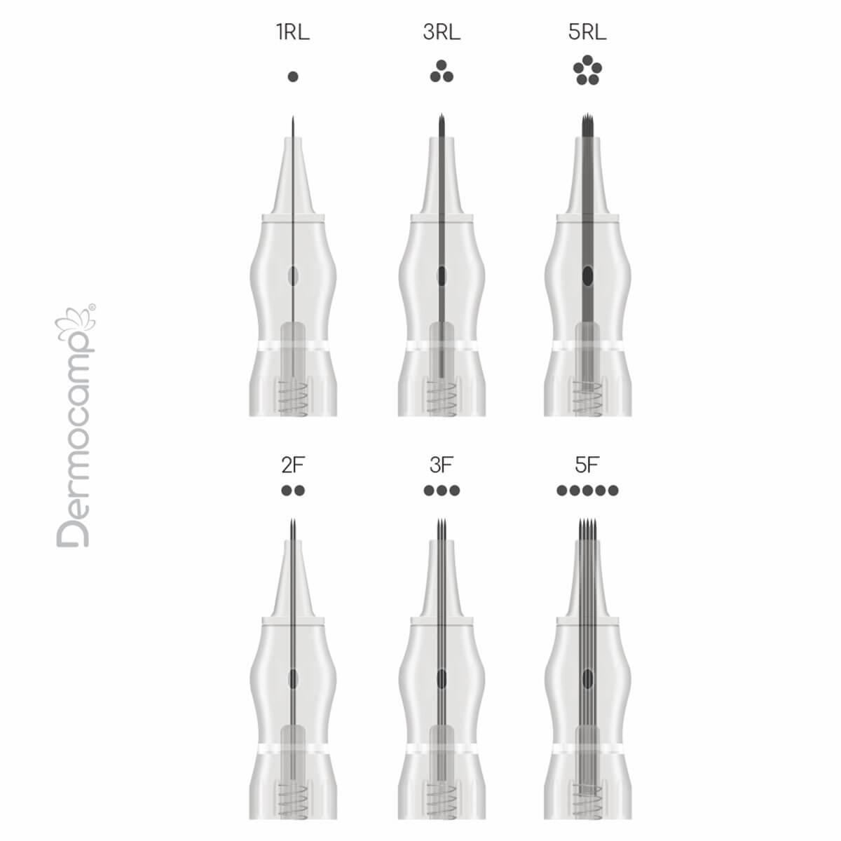Cartucho Descartável Dermocamp c/ Mola Cx 10un