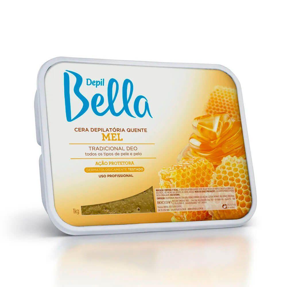Cera Quente Depil Bella 1kg Mel