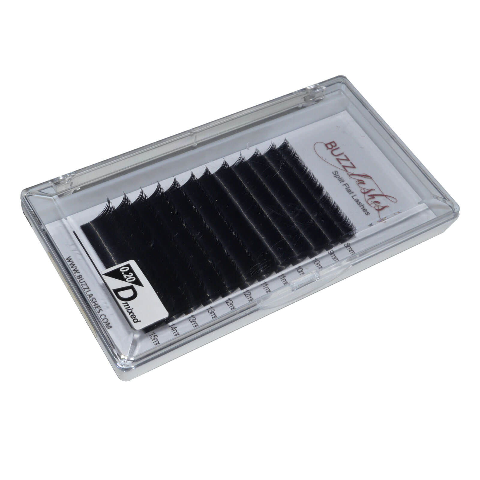 Cílios Buzz Lashes Flat Split Bandeja Mix 8-15mm