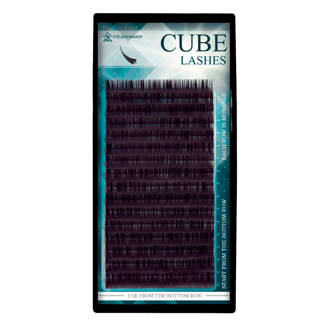 Cílios Eyelash Maker Elipse Cube Lashes Curvatura D