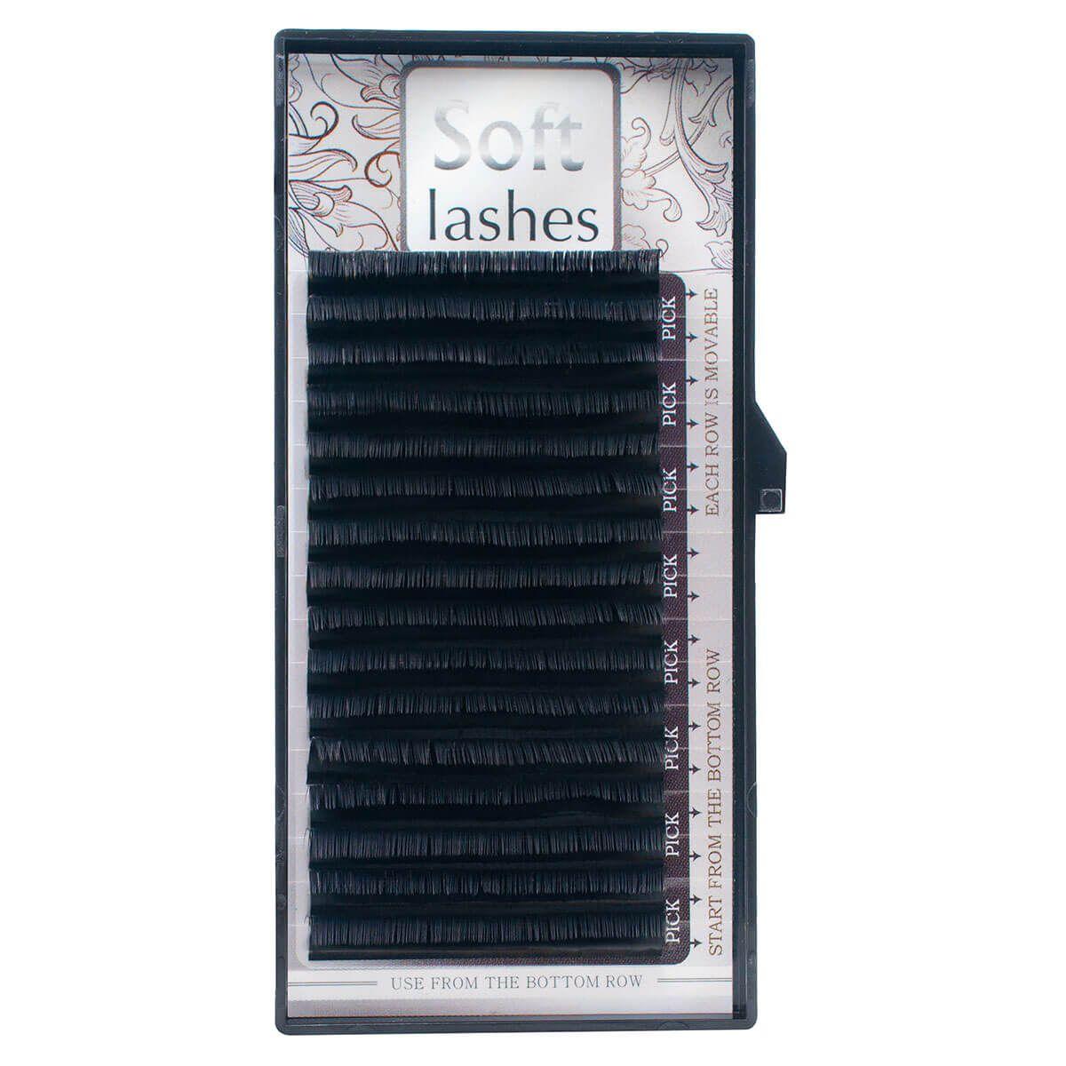 Cílios Eyelash Maker Soft Lashes 16 Fileiras Curvatura D