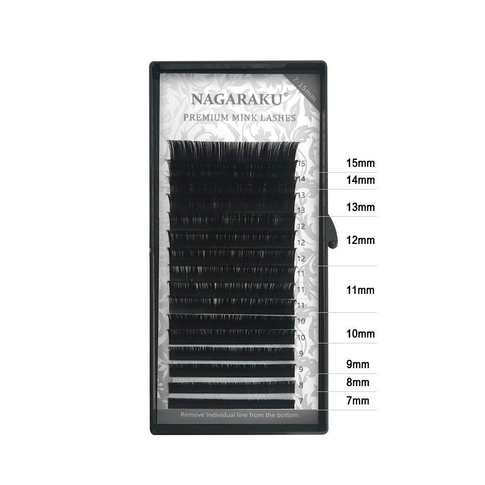 Cílios Nagaraku Fio a Fio e Volume Russo Curvatura D Mix