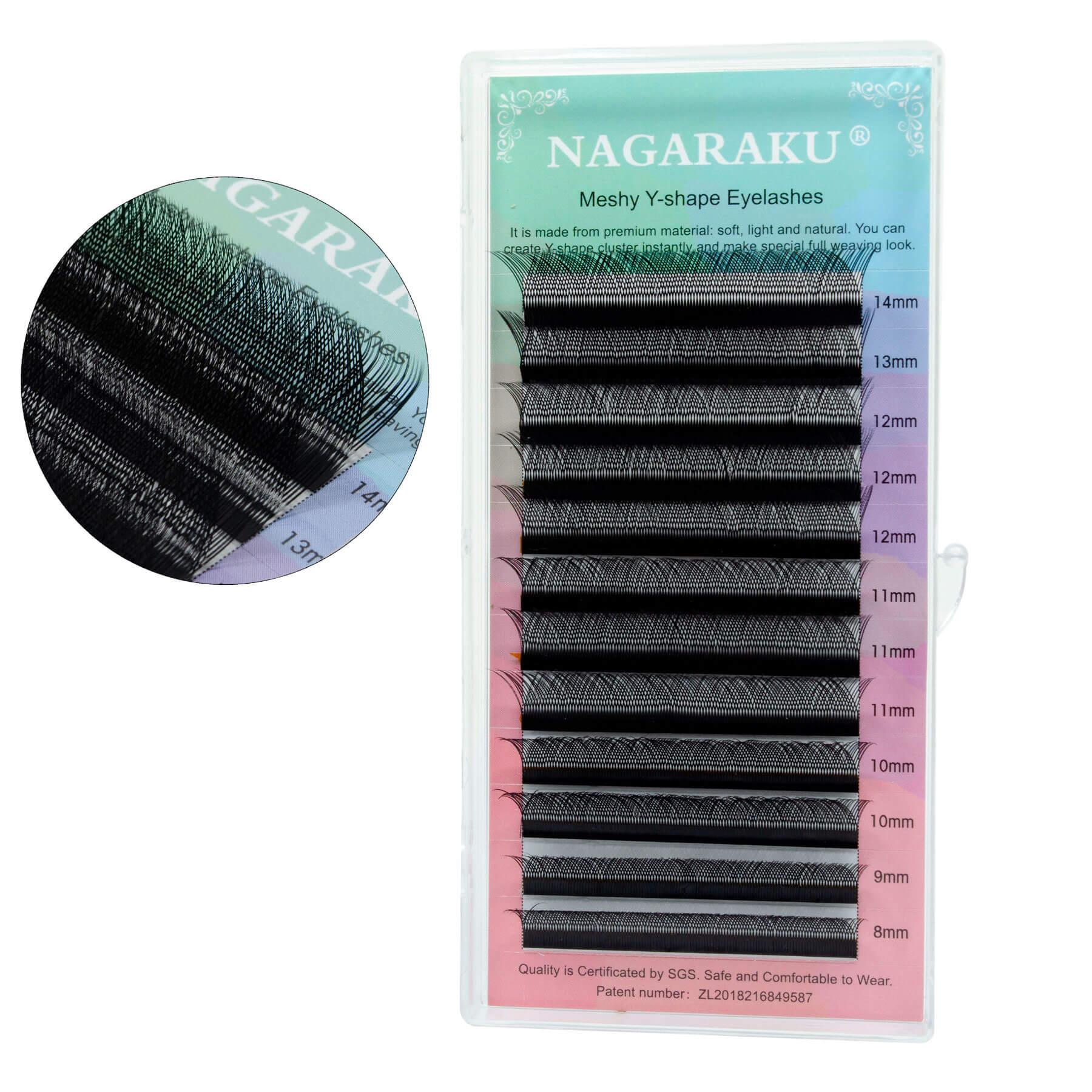 Cílios Nagaraku Meshy Y Shape Espessura 0.07mm