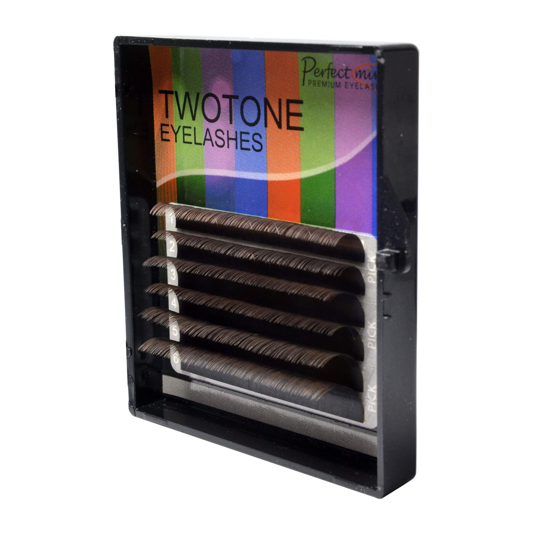 Cílios Twotone Perfect Mini 6 Fileiras Curvatura C