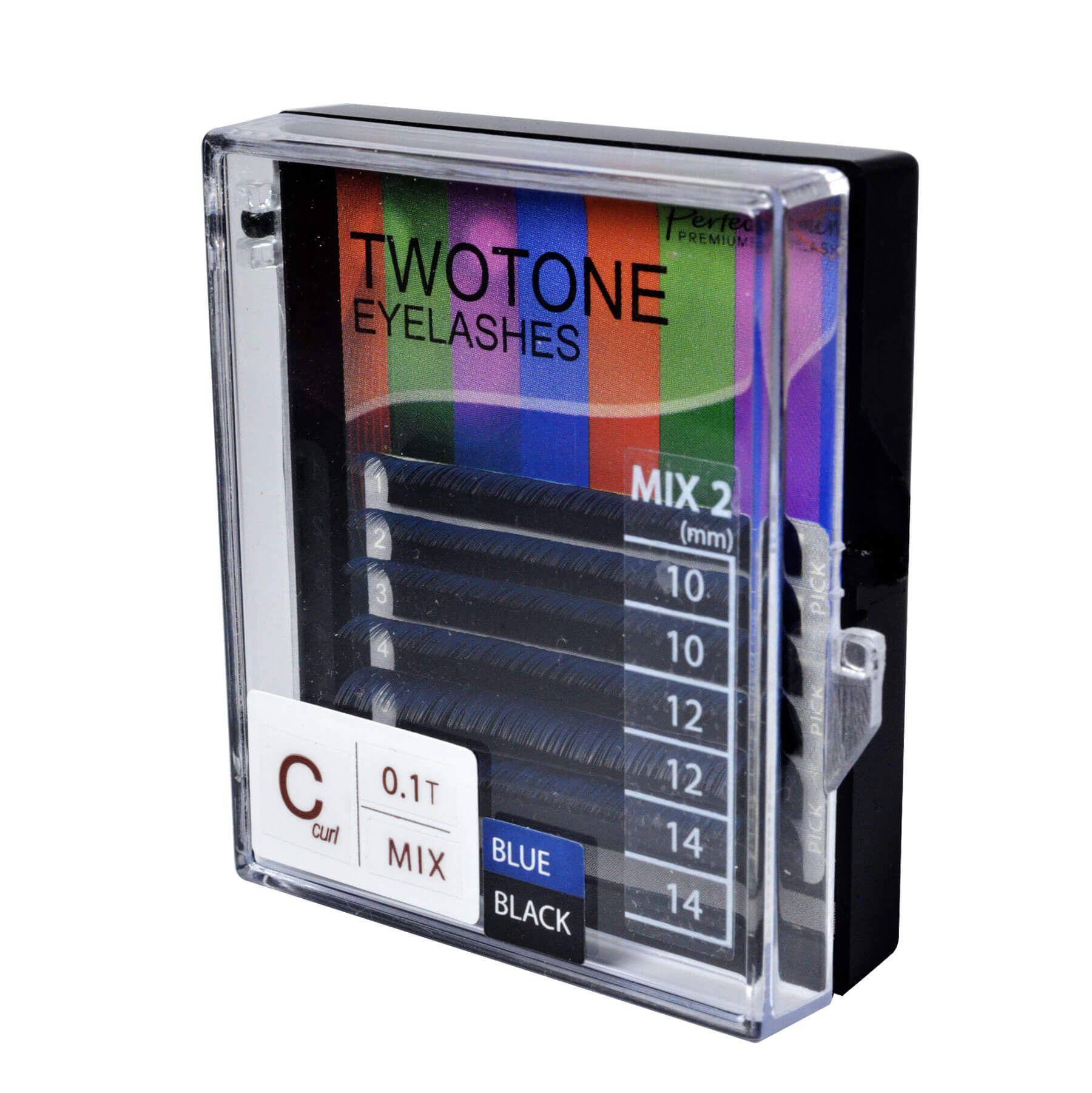 Cílios Twotone Perfect Mini 6 Fileiras Curvatura C