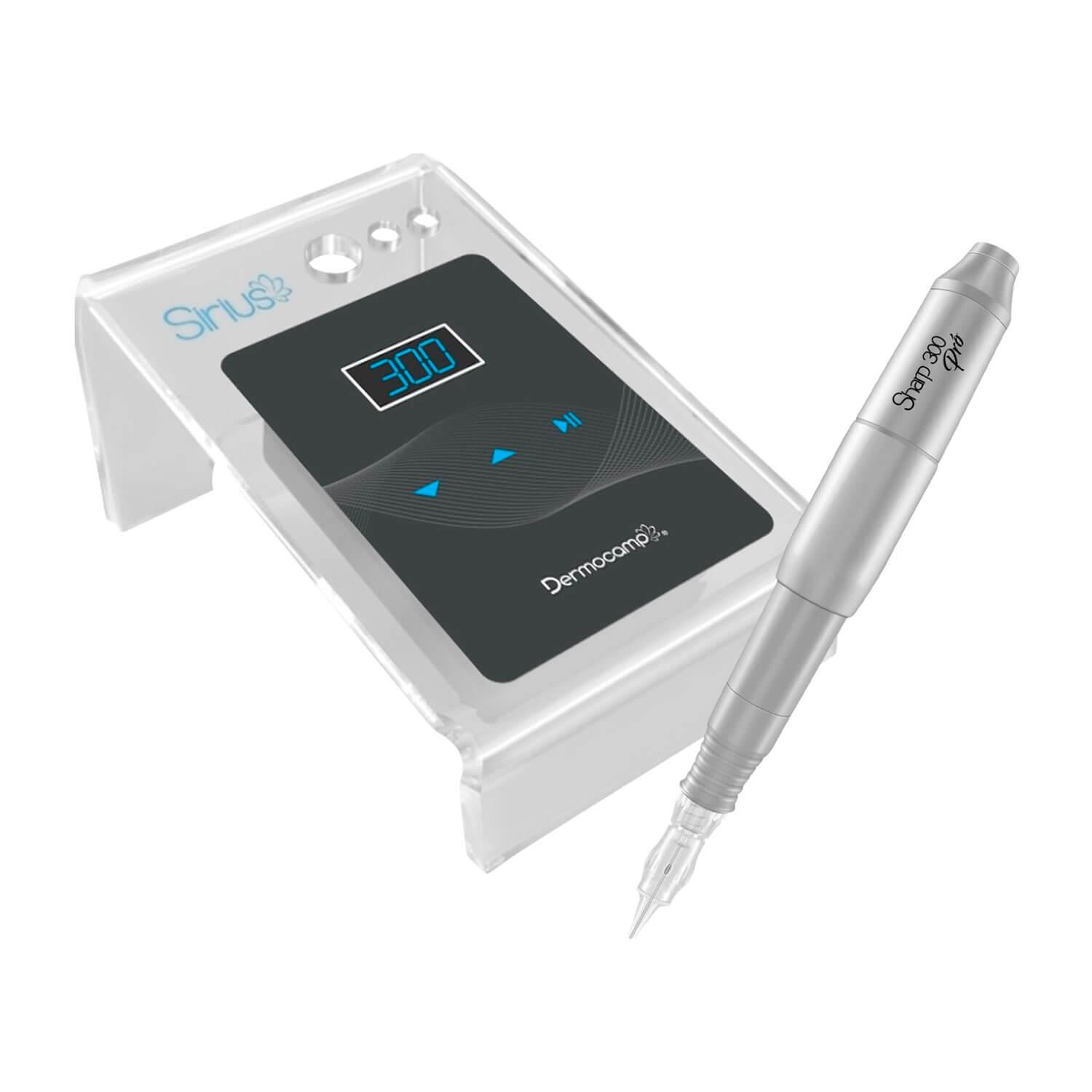 Combo Controle Digital Sirius Dark + Dermografo Sharp 300 Pró Prata