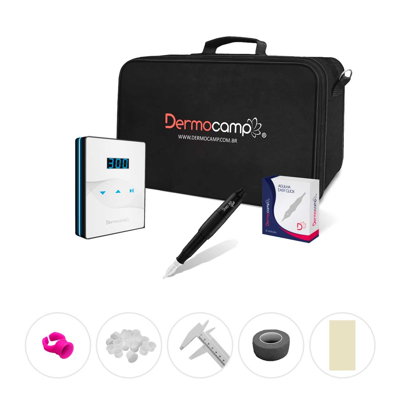 Combo Controle Slim White Preto + Sharp 300 Pro Preto