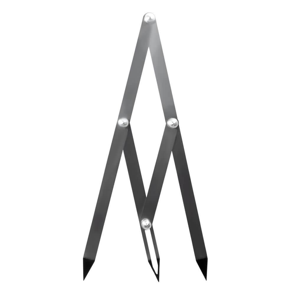 Compasso Áureo 3 Pontas Régua Simétrica para Design de Sobrancelhas