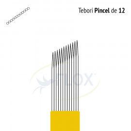 Caneta Tebori Can Can Flox Pincel 12 Pontas