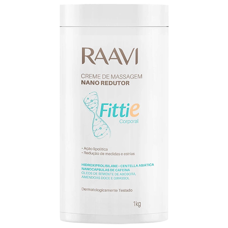 Creme de Massagem Raavi Fittie Nano Redutor 1kg