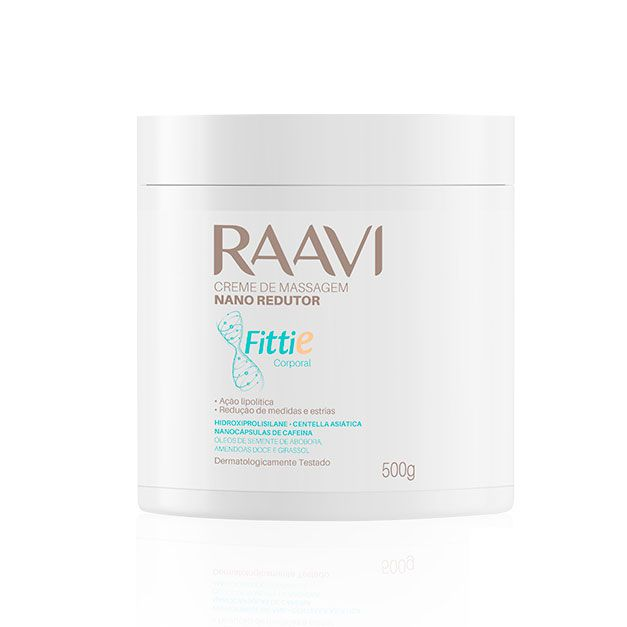 Creme de Massagem Raavi Fittie Nano Redutor 500g