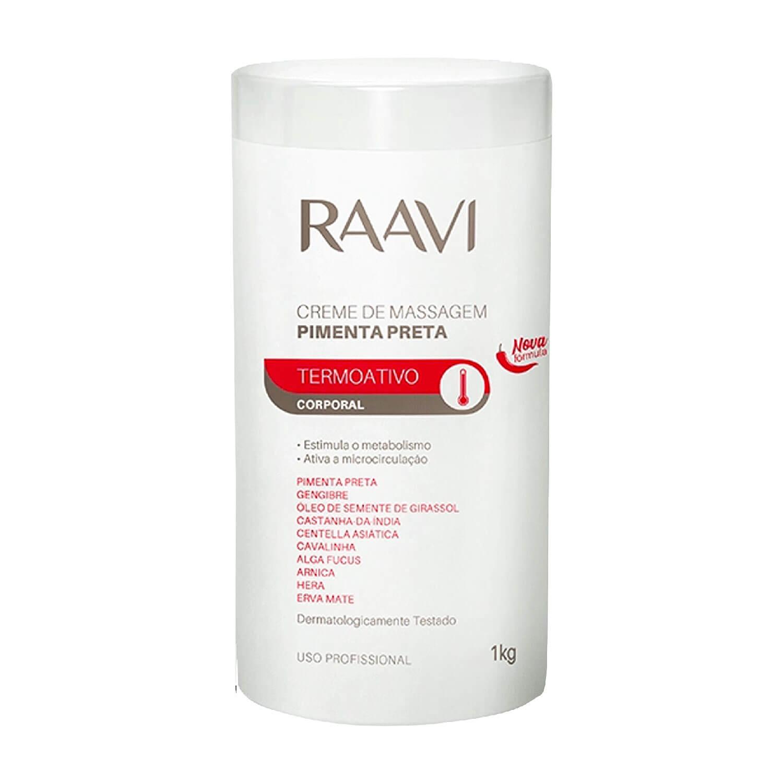 Creme para Massagem Raavi Termoativo de Pimenta Preta 1kg