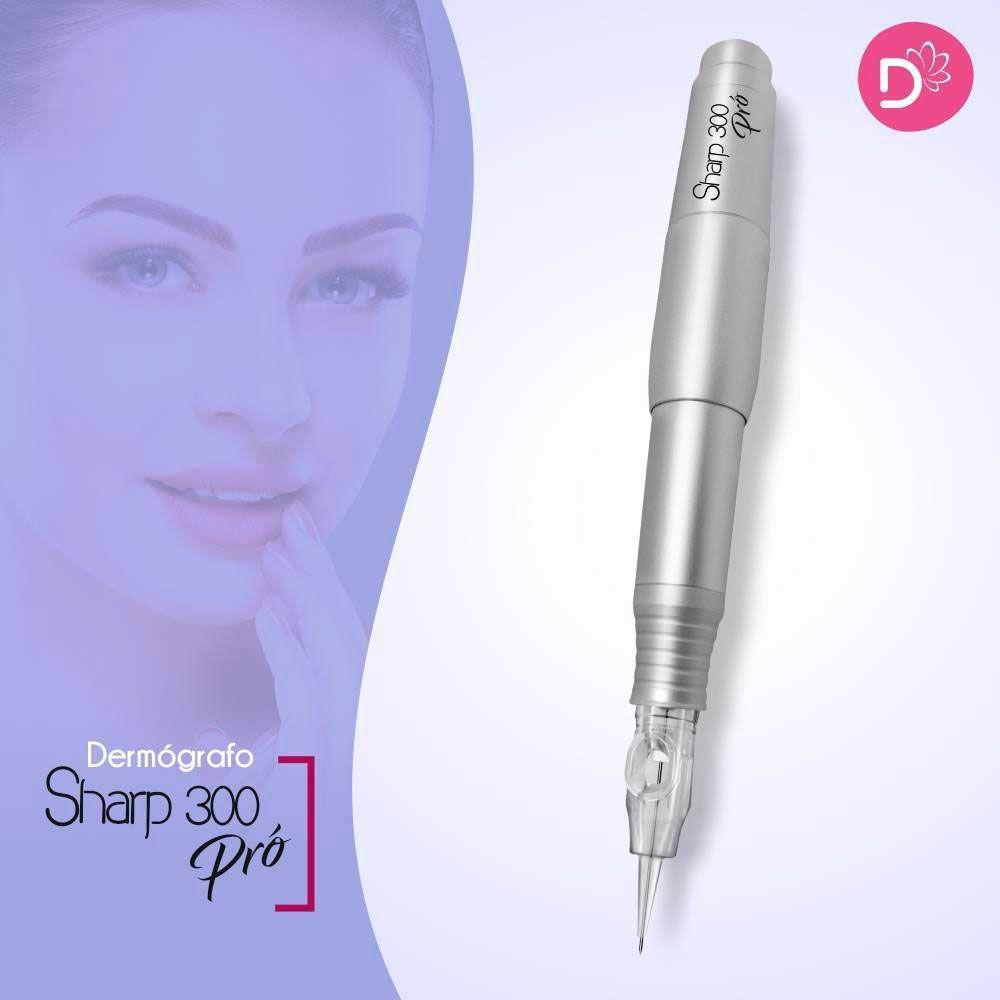 Dermografo Sharp 300 Pró Prata Caneta Avulsa