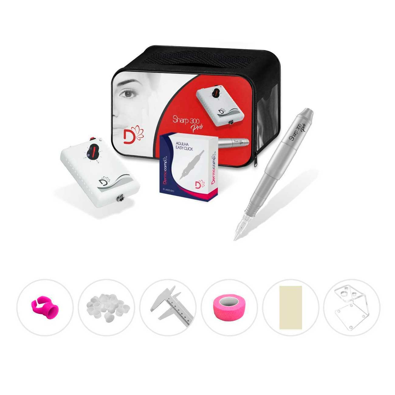 Combo Controle Analógico + Dermógrafo Sharp 300 Pró Prata