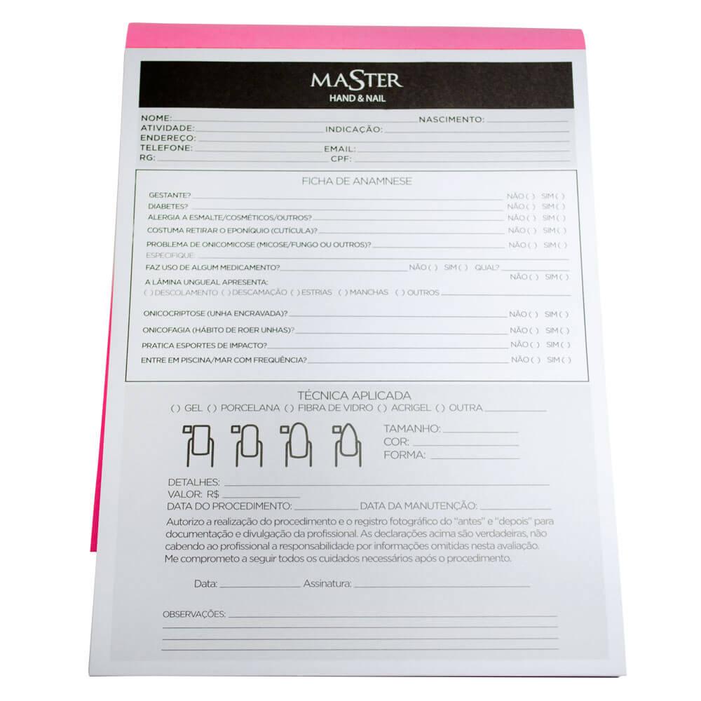 Ficha de Anamnese Master 50 Folhas