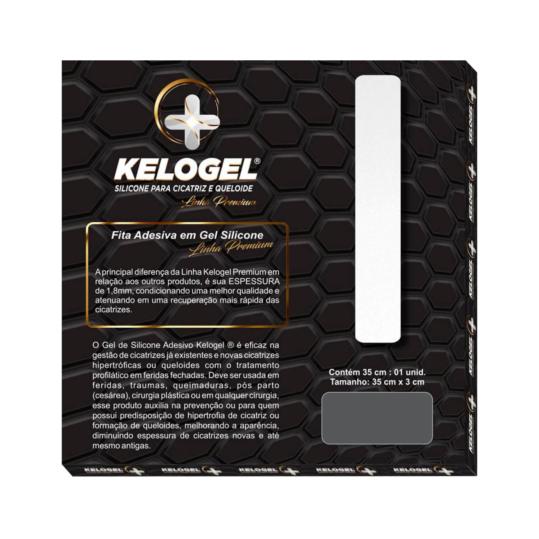 Fita de Silicone Kelogel Tratamento Queloide 35cmx3cm 1.8mm Premium