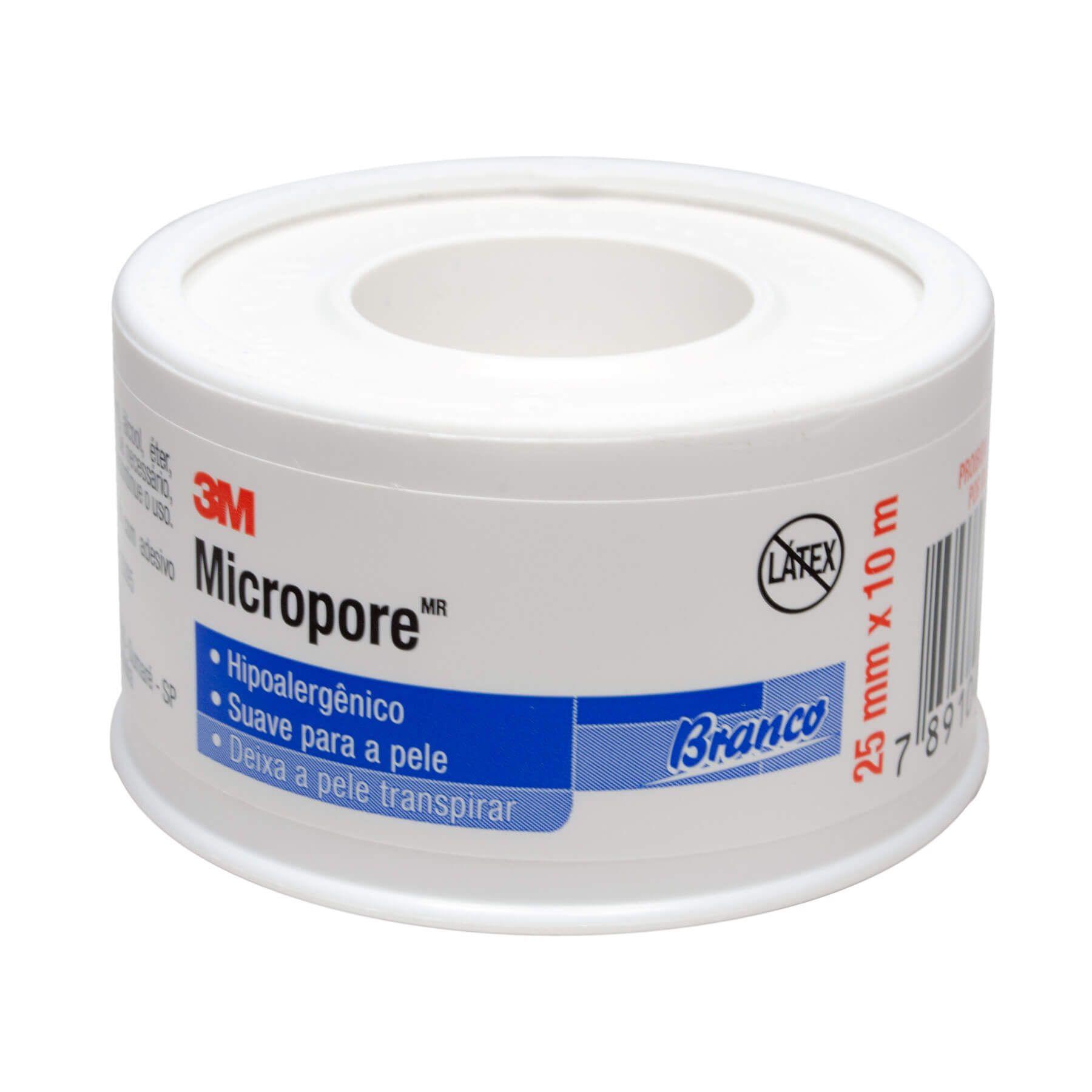 Fita Micropore 2,5cmx10m 3M